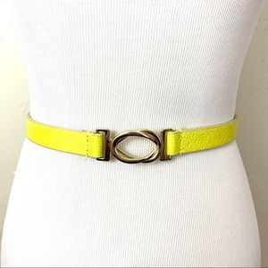 The Limited Yellow Waist Belt with Circle Clasp